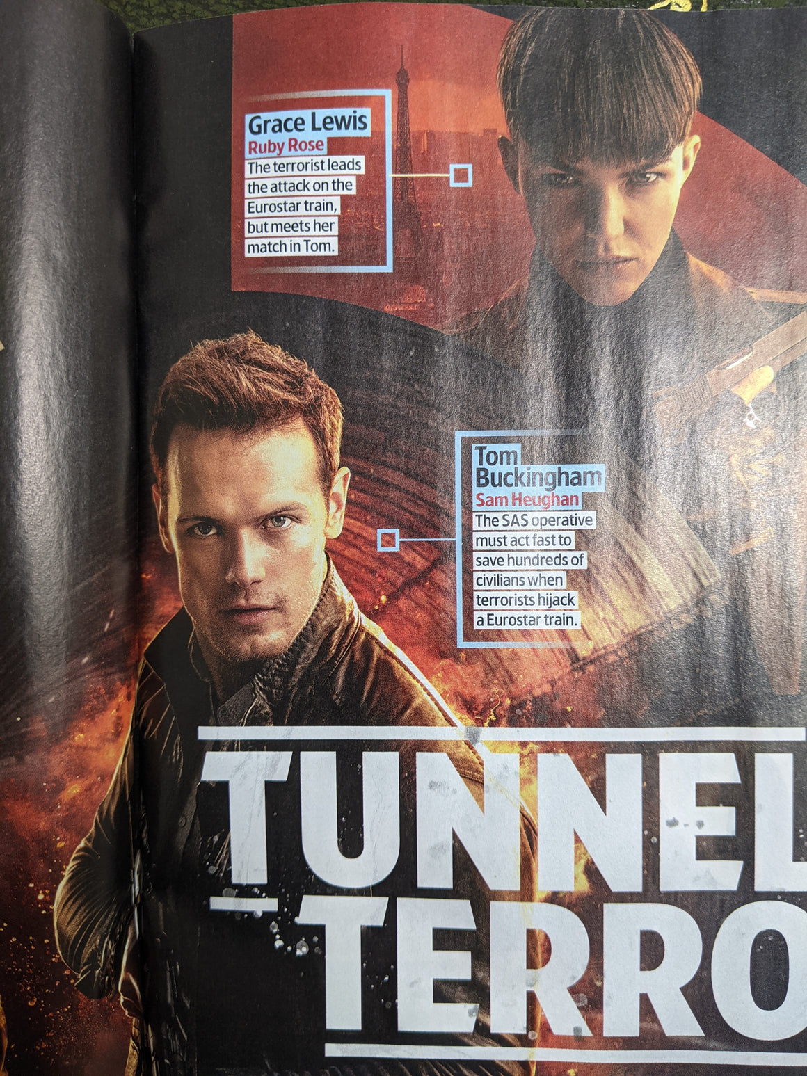 UK TV & Satellite Magazine March 2021 Sam Heughan SAS: Red Notice