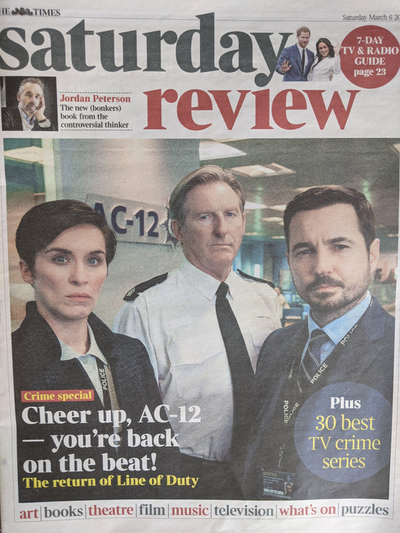 UK Times Review March 2021 John Simm interview VICKY McClure Line of Duty