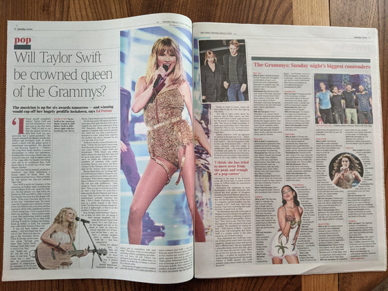 Times Review March 13th 2021: TAYLOR SWIFT