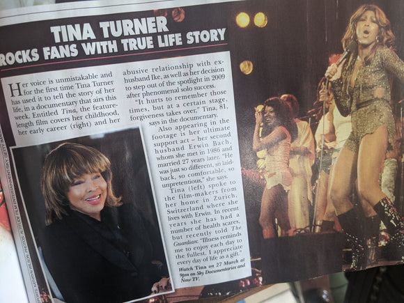 Hello! Magazine March 29 2021 Taylor Swift at the Grammys - Tina Turner