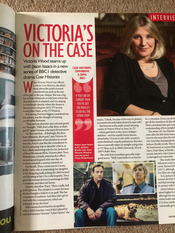 UK Saturday Magazine 16 May 2013 Victoria Wood