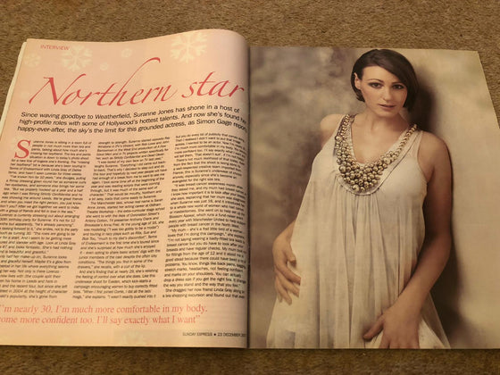 UK S Express Magazine December 2007: Suranne Jones Rare Interview