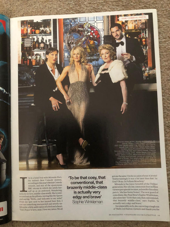 (UK) LONDON ES MAGAZINE 2011 Ab Fab JENNIFER SAUNDERS Miranda Hart Tom Ellis