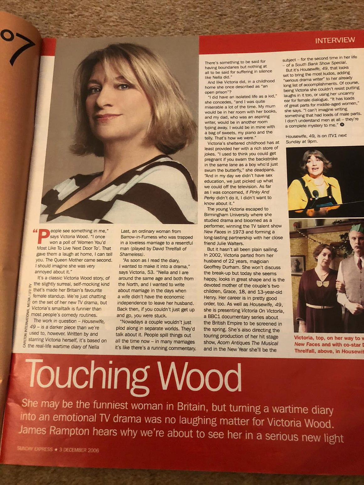 S Express Magazine 3rd December 2006 Victoria Wood