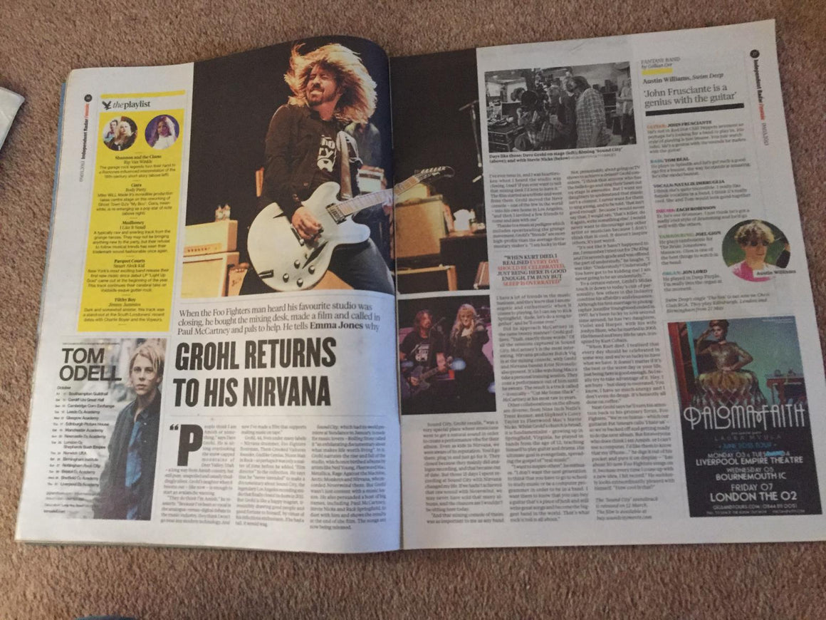 UK Independent Radar 9th March 2013: Dave Grohl Foo Fighters