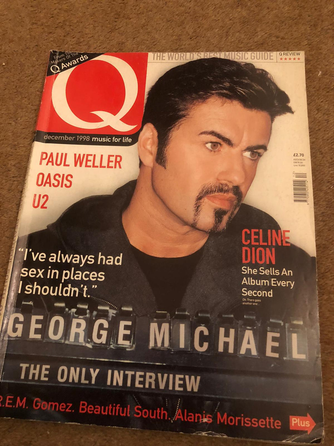 UK Q Magazine December 1998 George Michael Only Interview