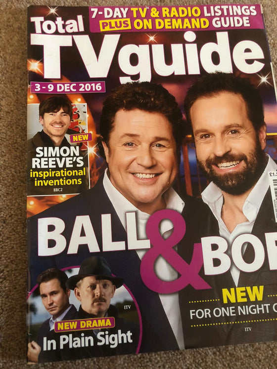Total TV Guide Magazine 3 Dec 2016: Michael Ball & Alfie Boe