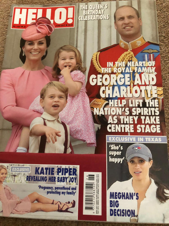 Hello! 26 June 2017 Kate Middleton Prince George