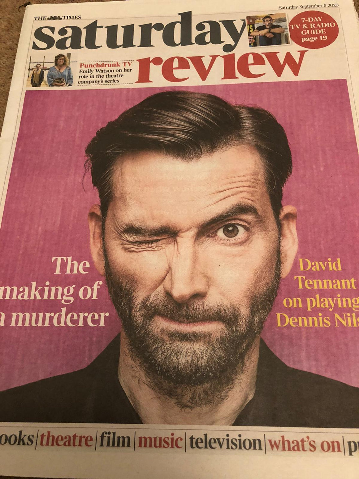 UK TIMES REVIEW supplement Sept 2020: DAVID TENNANT COVER FEATURE Emily Watson