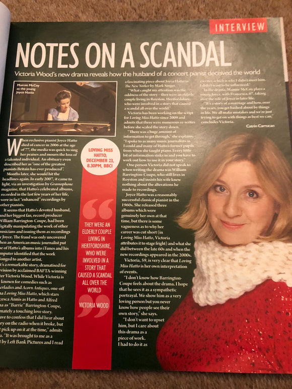 Saturday Magazine 15th December 2012 Victoria Wood