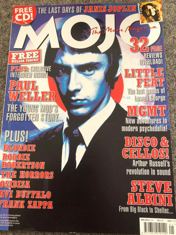 UK Mojo Magazine May 2010 Paul Weller Cover