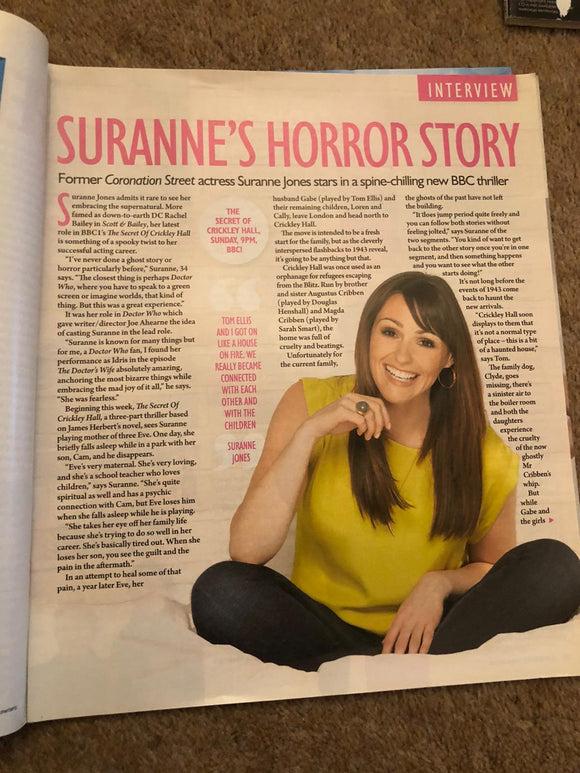 Saturday Magazine Nov 17 2012 Suranne Jones Rare Interview