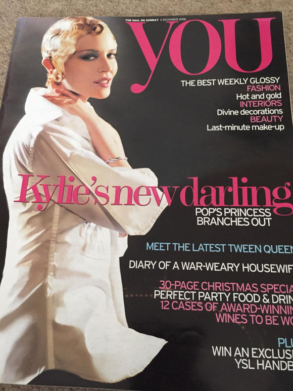 UK You Magazine December 2006: Kylie Minogue Cover