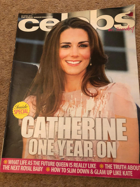 Sunday Mirror - Celebs on Sunday Mag 23rd April 2012 - Kate Middleton cover