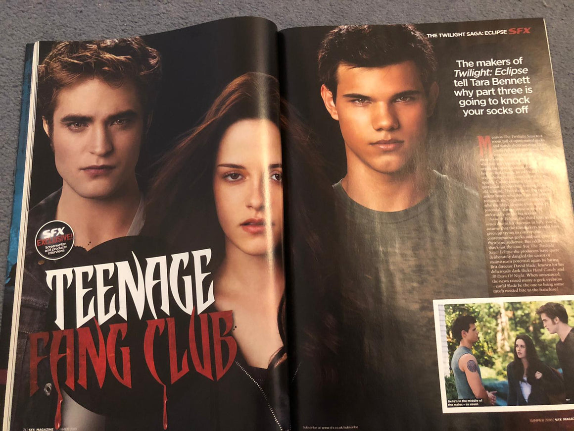 SFX Magazine Summer 2010 Robert Pattinson Twilight
