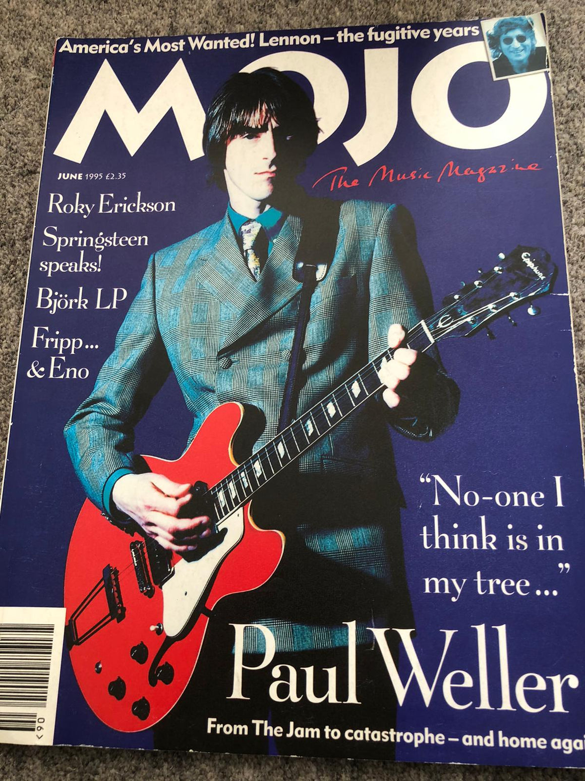 PAUL WELLER MOJO #19 MAGAZINE JUNE 1995 PAUL WELLER COVER AND FEATURE