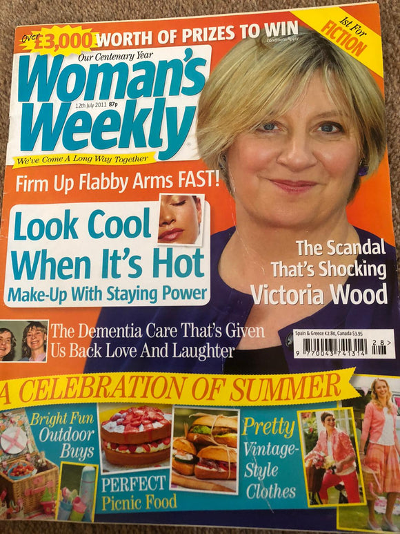 UK Woman's Weekly Magazine 12 July 2011 Victoria Wood