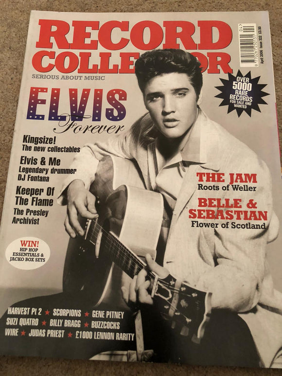 UK Record Collector April 2006 Elvis Presley Paul Weller Suzi Quatro