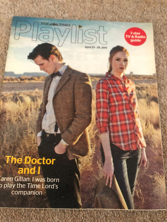 Playlist Magazine April 2011 Karen Gillian & Matt Smith Doctor Who