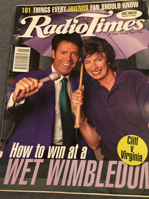 Radio Times Magazine 28 June 1997 Sir Cliff Richard Cover