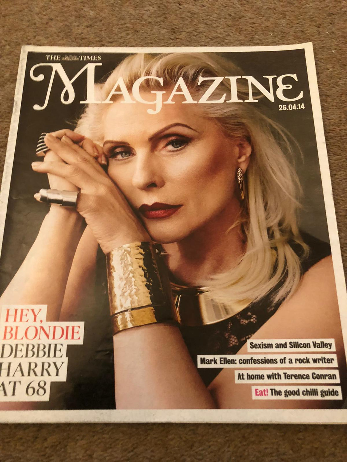 UK Times Magazine April 2014: Blondie Debbie Harry Cover