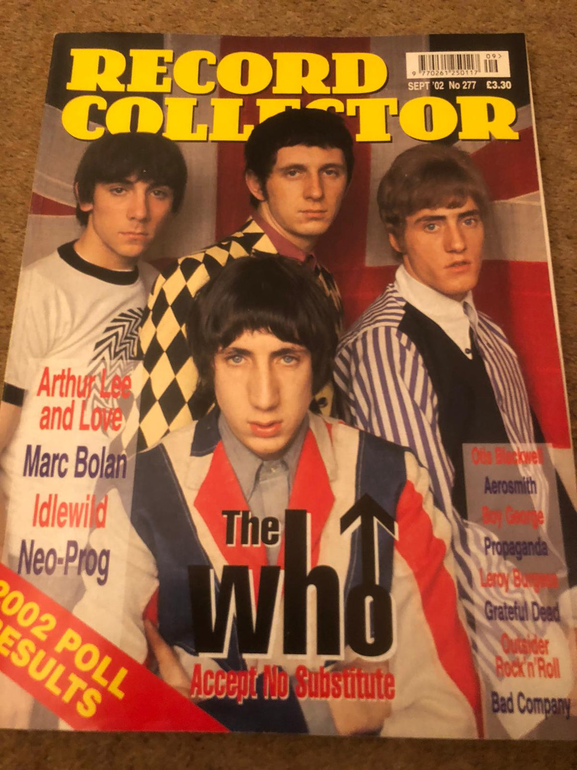UK Record Collector September 2002 The Who Roger Daltrey Pete Townshend