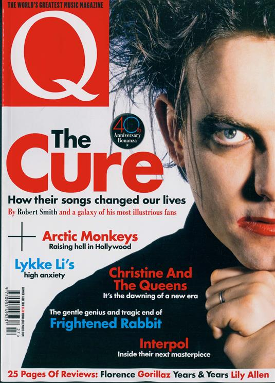UK Q Magazine August 2018: THE CURE Robert Smith Frightened Rabbit GHOST