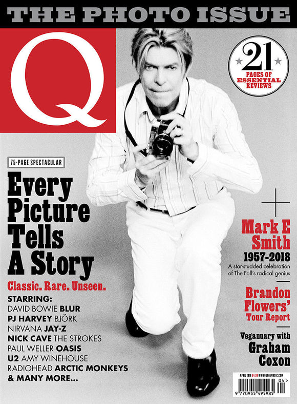 UK Q Magazine APRIL 2018: DAVID BOWIE The Fall KATE BUSH Brandon Flowers