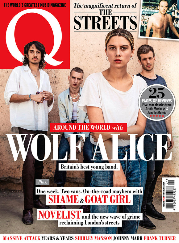 Q magazine July 2018 WOLF ALICE Neko Case Janelle Monàe Sting Mike Skinner