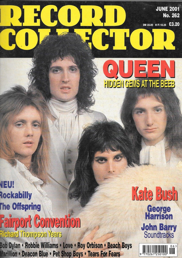 Record Collector Magazine June 2001: FREDDIE MERCURY - Queen - Kate Bush George Harrison