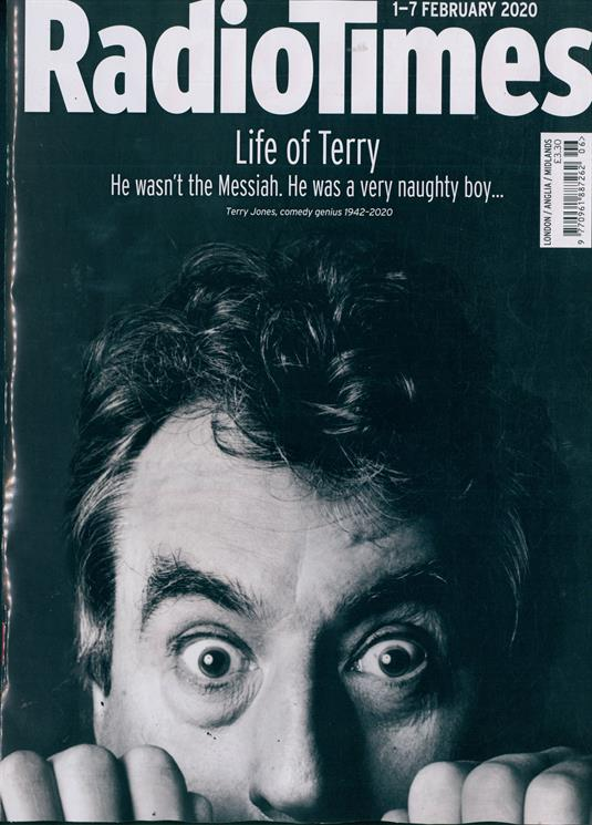 Radio Times Magazine 1 February 2020: TERRY JONES - MONTY PYTHON SPECIAL EDITION