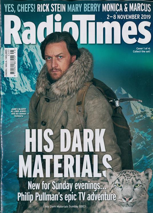 RADIO TIMES Magazine 2 November 2019: JAMES McAVOY (His Dark Materials) Cover #1