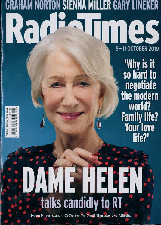 RADIO TIMES Magazine 5 Oct 2019: HELEN MIRREN Damian Lewis HARRY CONNICK JR