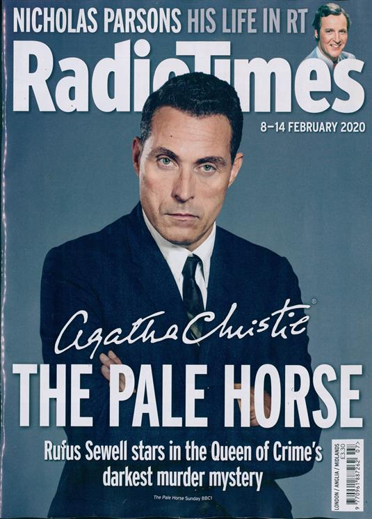 Radio Times Magazine 8 February 2020 RUFUS SEWELL THE PALE HORSE AGATHA CHRISTIE