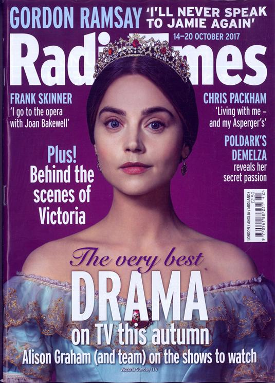 Jenna Coleman on the cover of Radio Times Magazine