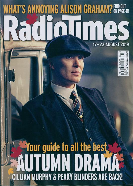 UK Radio Times Magazine 17 August 2019: Cillian Murphy (Peaky Blinders) Cover