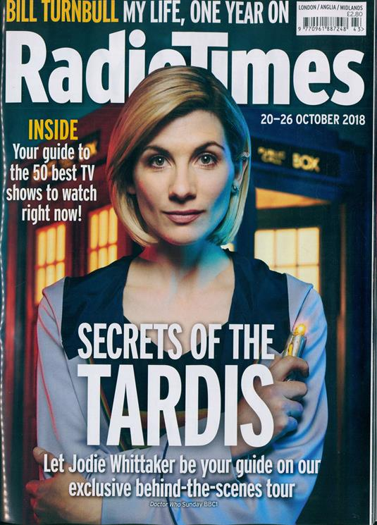 RADIO TIMES magazine 20 October 2018 Doctor Who Jodie Whittaker Richard Armitage Roger Daltrey