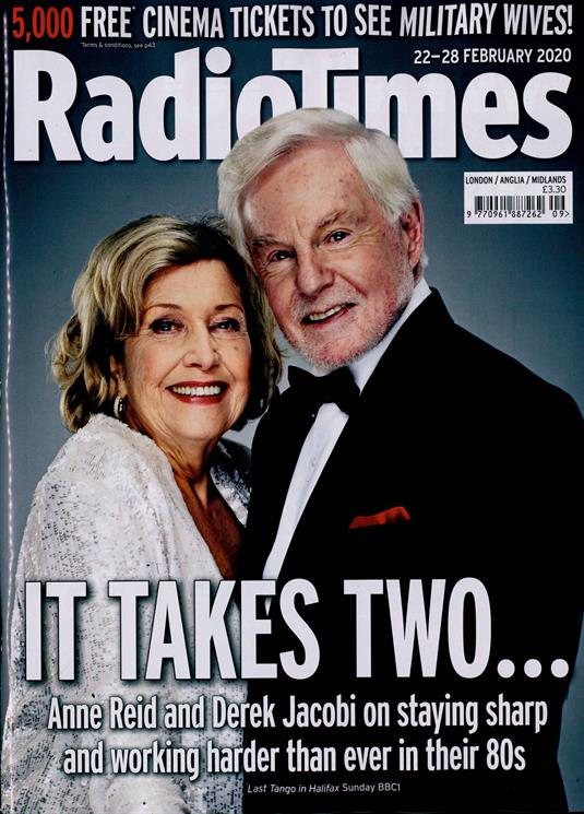 Radio Times Mag 22 Feb 2020: DEREK JACOBI Anne Reid LAST TANGO IN HALIFAX