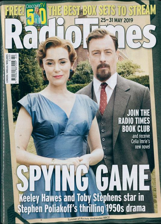 RADIO TIMES MAGAZINE 18 May 2019 Toby Stephens Keeley Hawes Summer Of Rockets