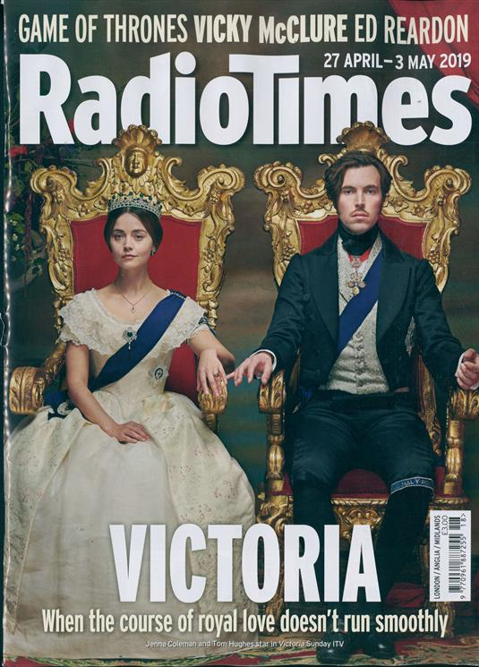RADIO TIMES MAGAZINE - 27 April 2019 Jenna Coleman & Tom Hughes (Victoria) Cover