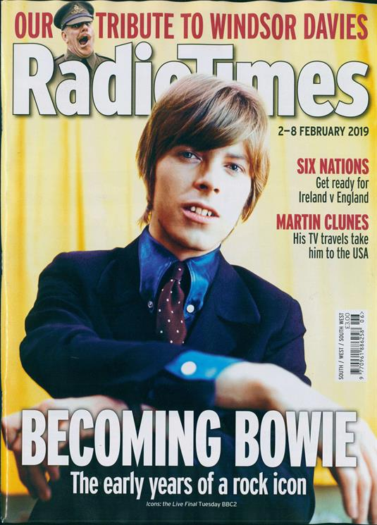 UK Radio Times Magazine 2 Feb 2019: DAVID BOWIE COVER STORY