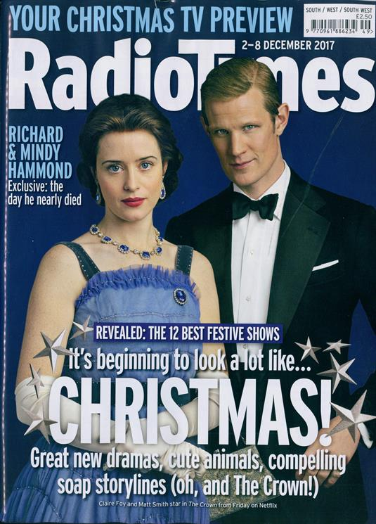 Radio Times December 2 2017 The Crown Matt Smith Angela Lansbury Richard Hammond