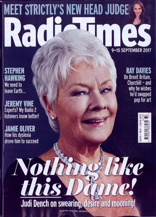 Judi Dench on the cover of Radio Times