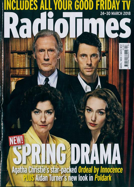UK Radio Times Magazine 24 March 2018 Bill Nighy Matthew Goode Aidan Turner
