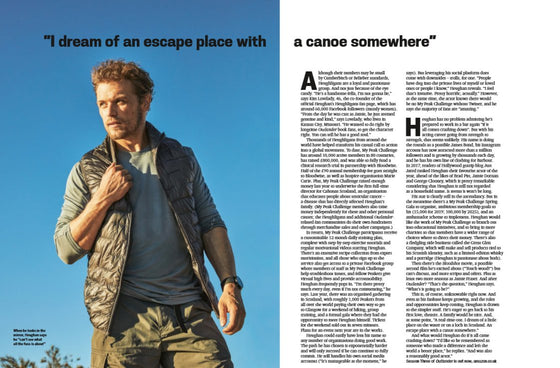 UK Red Bulletin Magazine October 2018: Sam Heughan Interview