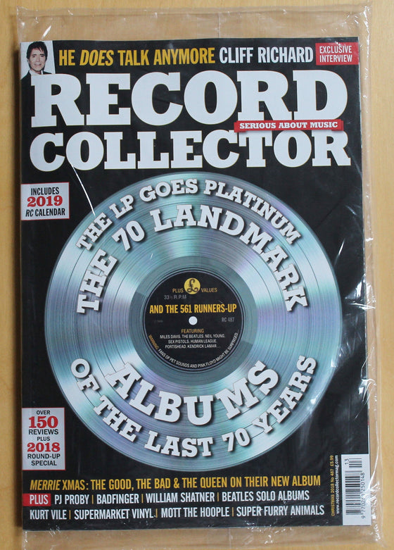 UK Record Collector Magazine January 2019 Sir Cliff Richard Exclusive Interview