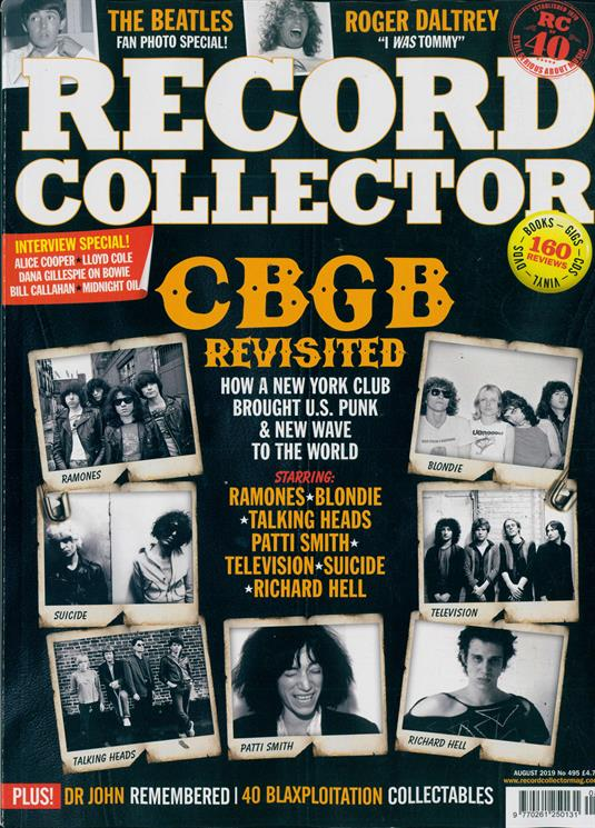 UK Record Collector Magazine August 2019: THE BEATLES Roger Daltrey PATTI SMITH David Bowie