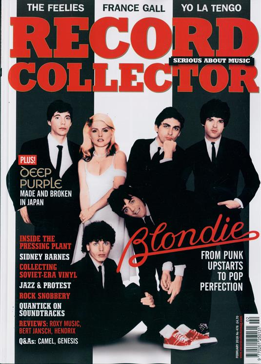 UK RECORD COLLECTOR magazine February 2018 Debbie Harry Blondie Deep Purple