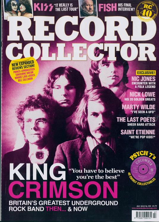 Record Collector Magazine July 2019: King Crimson Kiss