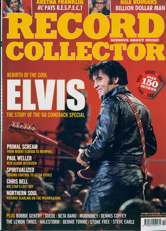 UK Record Collector Magazine Oct 2018: ELVIS PRESLEY Paul Weller CHRIS BELL